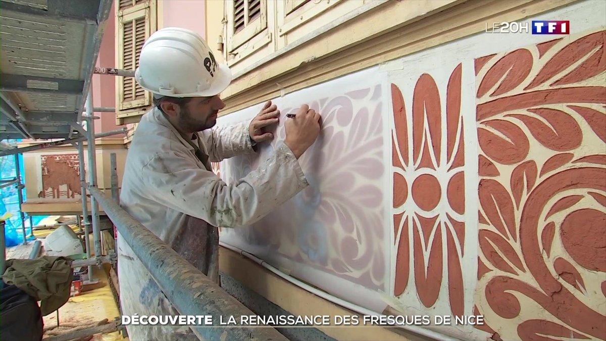 #TF1 - À la découverte des fresques murales des maisons niçoises - Le journal de 20h | TF1