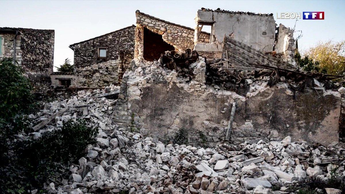 Après le séisme, les habitants du Teil constatent les dégâts - TF1
