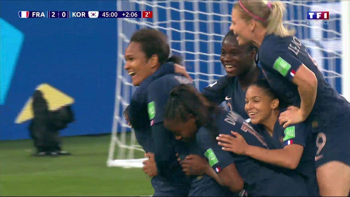 France , Corée du Sud (3 , 0)  Voir le doublé de Wendie Renard en vidéo ,  Coupe du monde féminine FIFA 2019