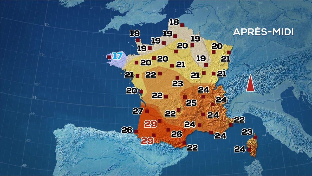 Les prévisions météo du JT de 13 heures du 11 octobre 2019 - TF1