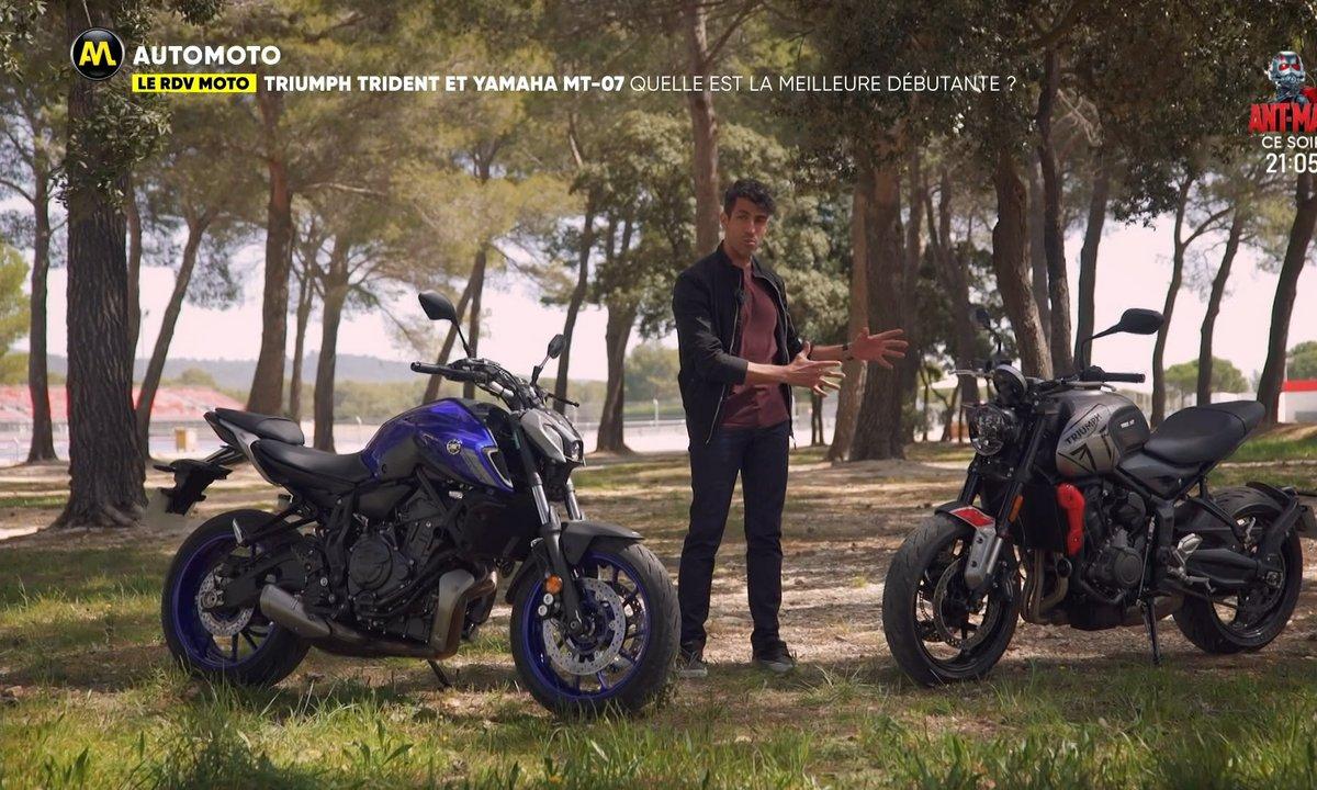 RDV Moto - Triumph Trident et  Yamaha MT 07 : quelle est la meilleure débutante ?