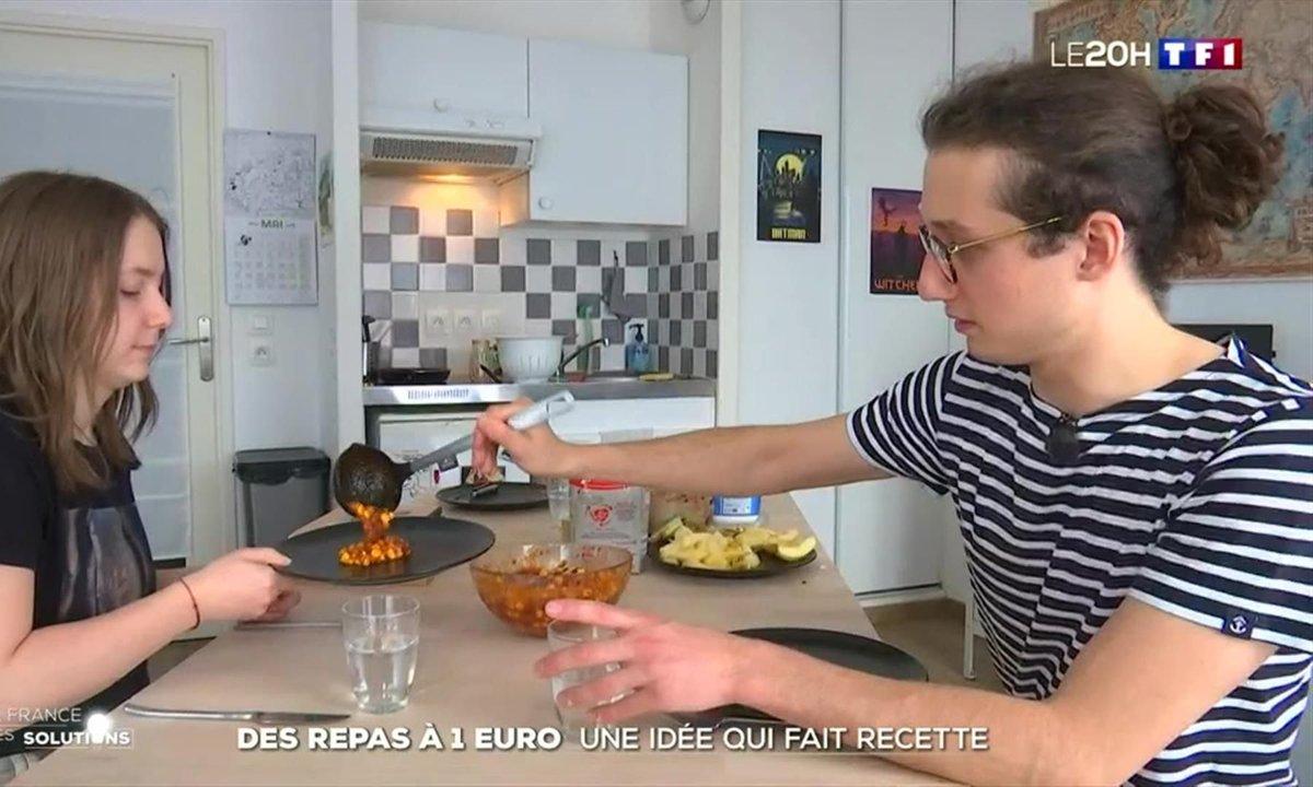 """""""1 repas, 1 euro"""" : les recettes pas chères d'une étudiante cartonnent sur Twitter"""