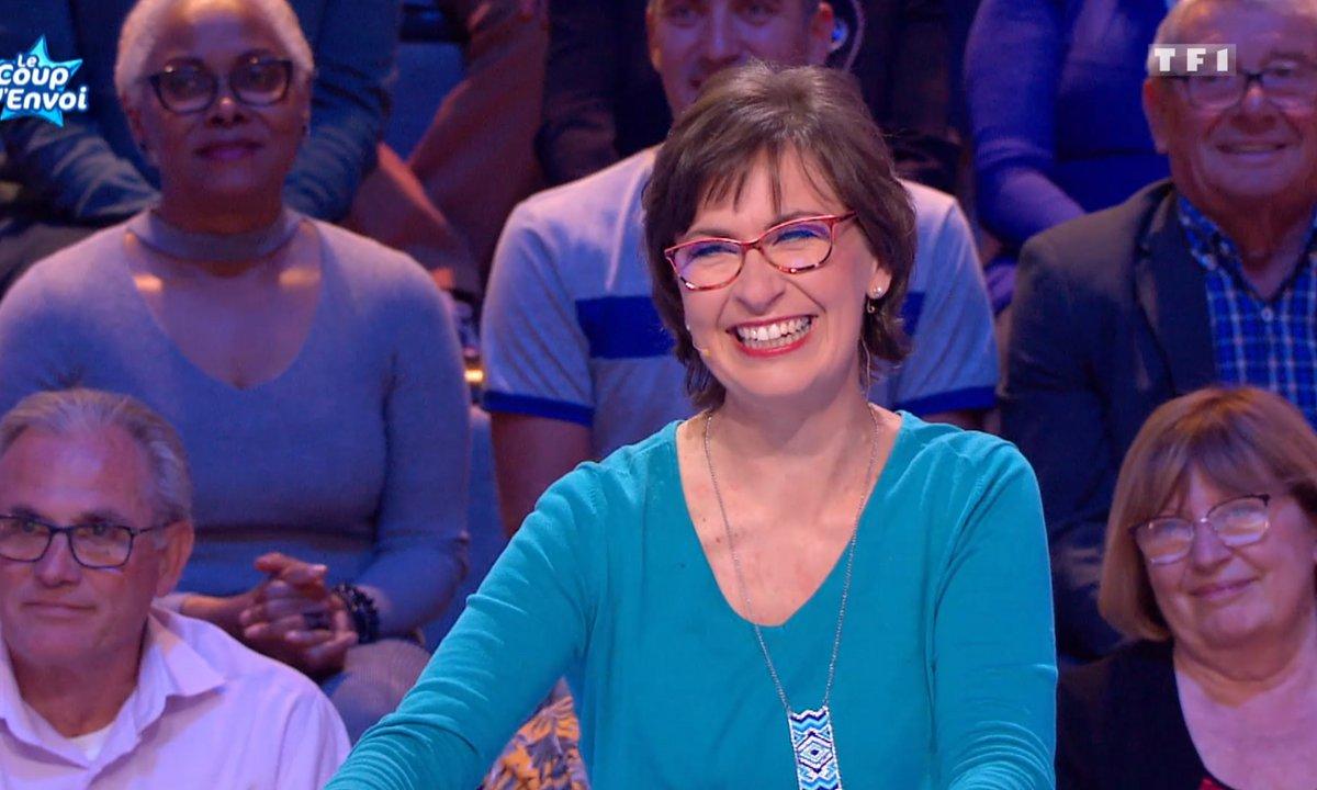 Les 12 coups de midi : Céline présente ses deux poules : Jacky et Michèle