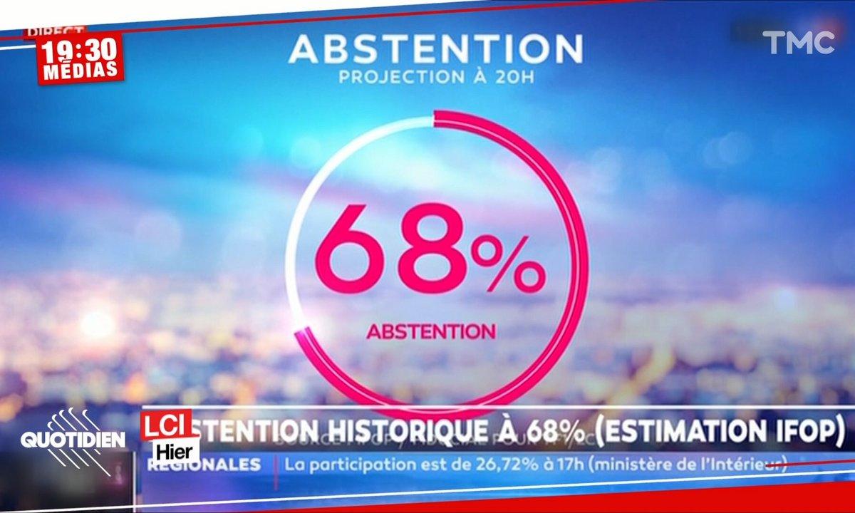 19h30 Médias : abstention record aux élections régionales