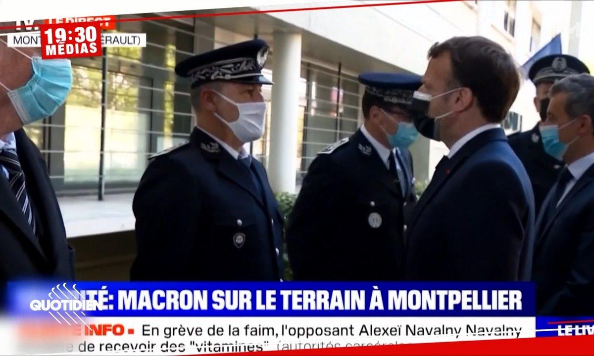 19h30 Médias : Emmanuel Macron hué à son arrivée à Montpellier