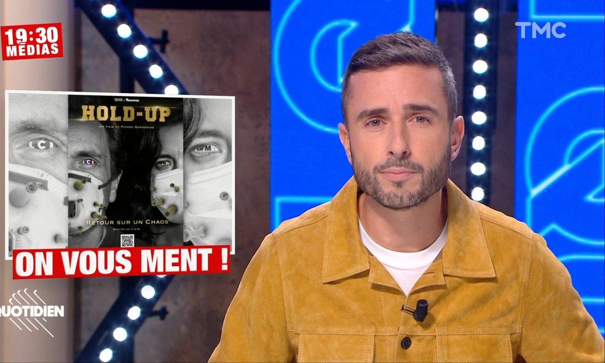 """19h30 Médias: """"Hold-up"""", le documentaire complotiste sur le Covid"""