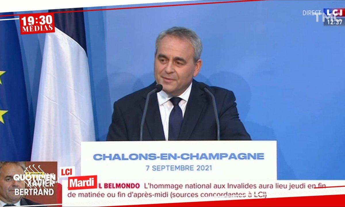 19h30 Médias : le décollage raté de Xavier Bertrand
