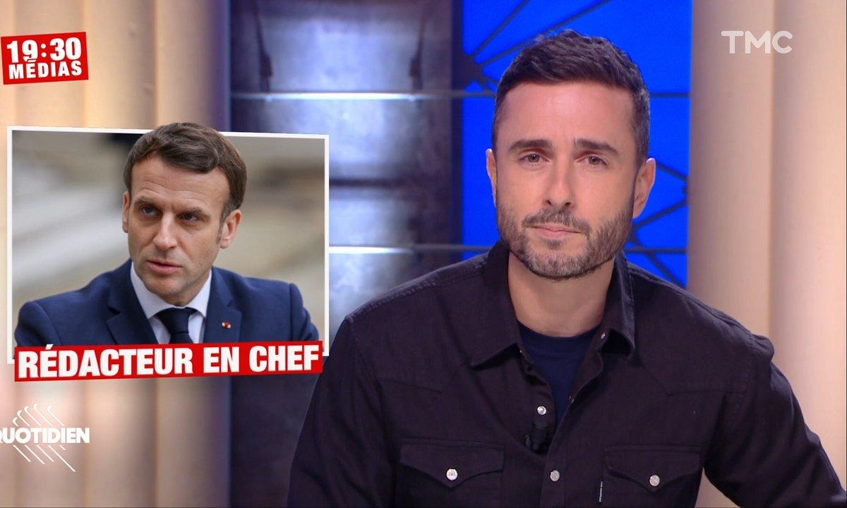 19h30 Médias: les coulisses de l'interview surprise d'Emmanuel Macron