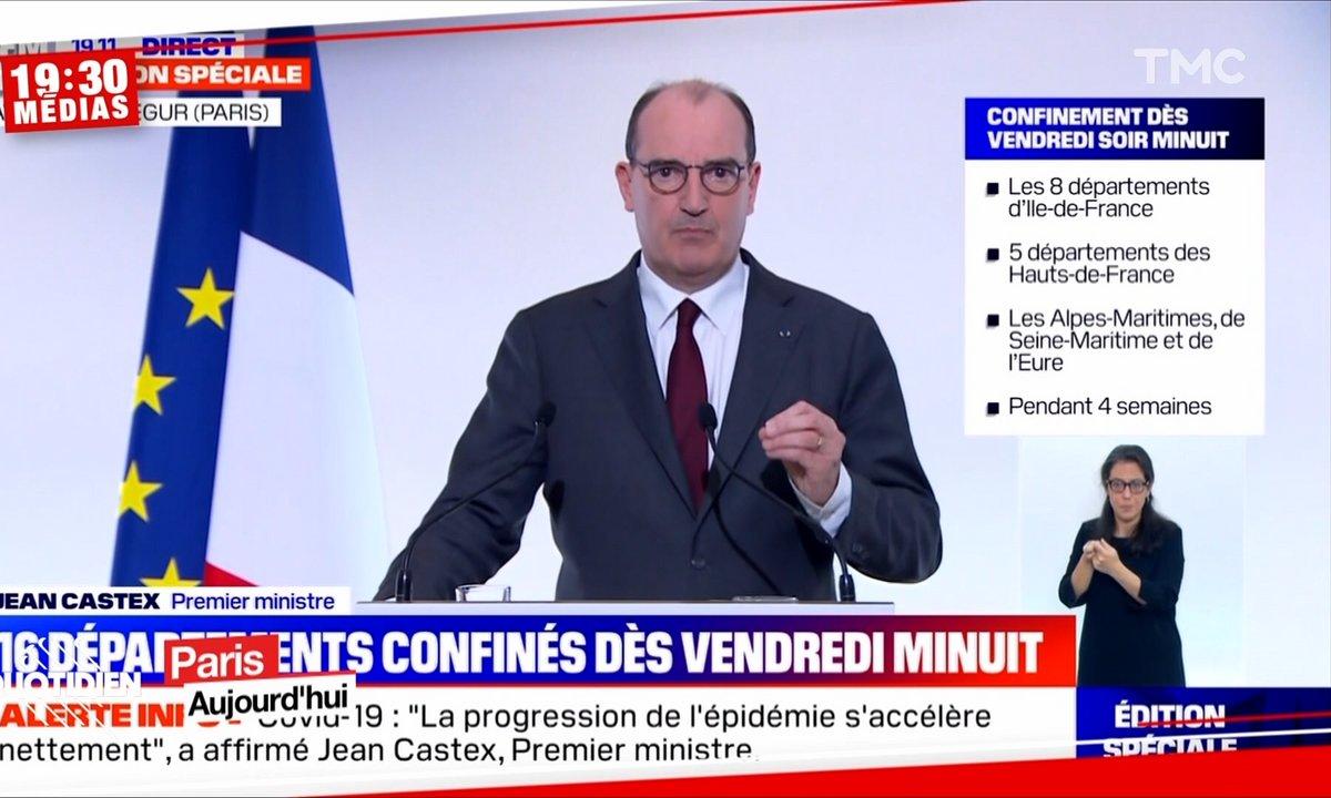 19h30 Médias – Reconfinement, couvre-feu, attestations : ce qu'il faut retenir des annonces de Jean Castex