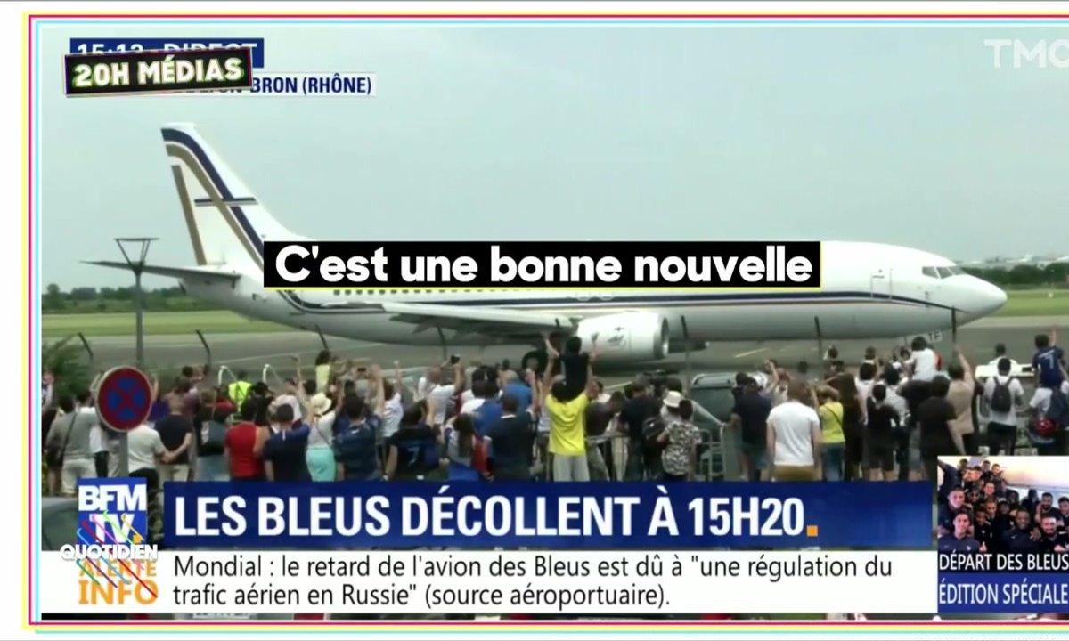 20h Médias : les chaînes d'info en boucle sur le départ des Bleus