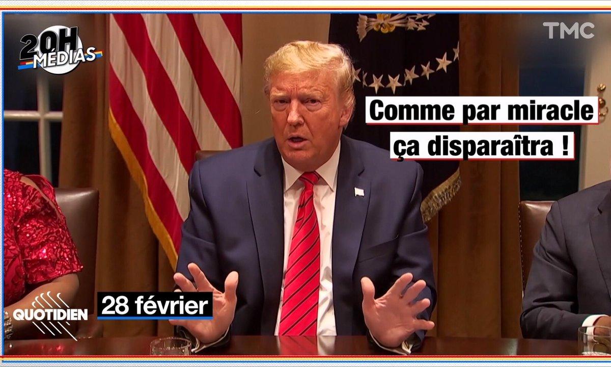 20h Médias – Coronavirus : Donald Trump à contre-courant