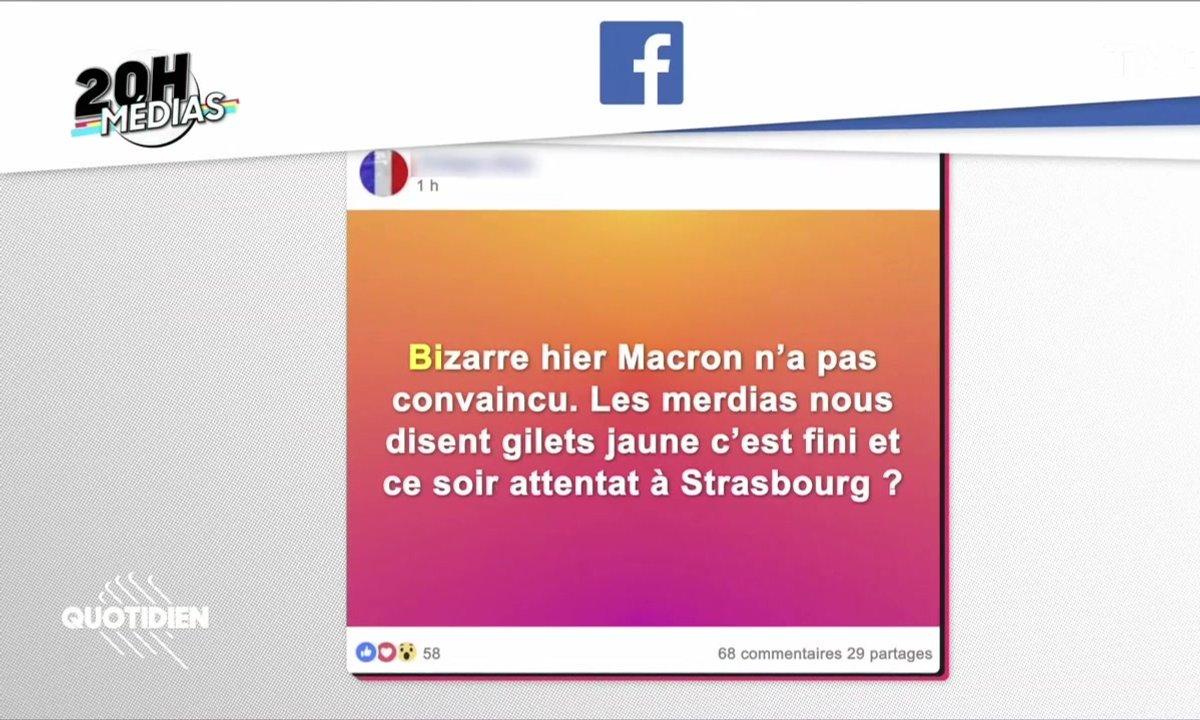 20h Médias : l'attaque de Strasbourg, la presse et les complotistes chez les gilets jaunes