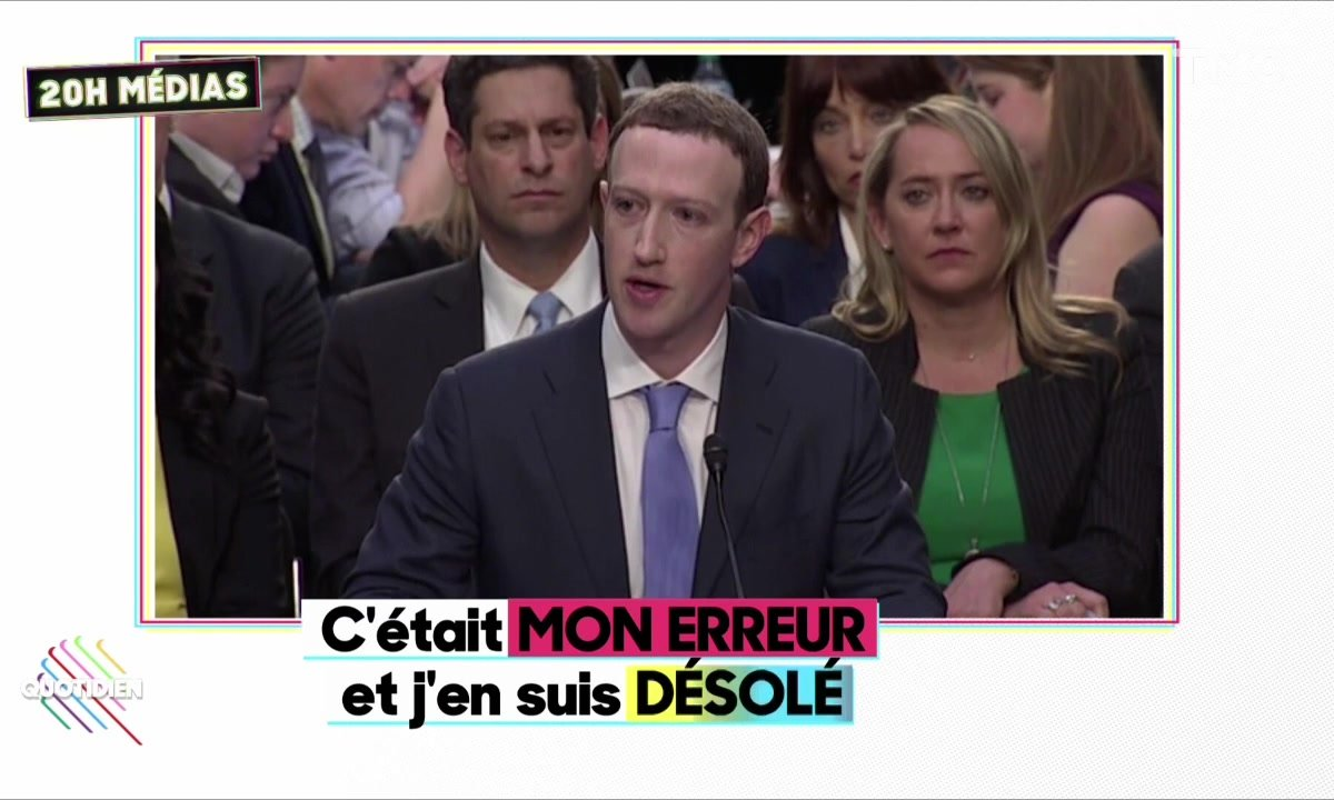 20h Médias : l'audition de Mark Zuckerberg devant le Sénat américain
