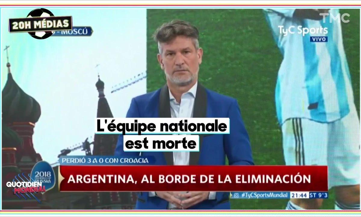 20h Médias : une minute de silence pour l'humiliation Argentine