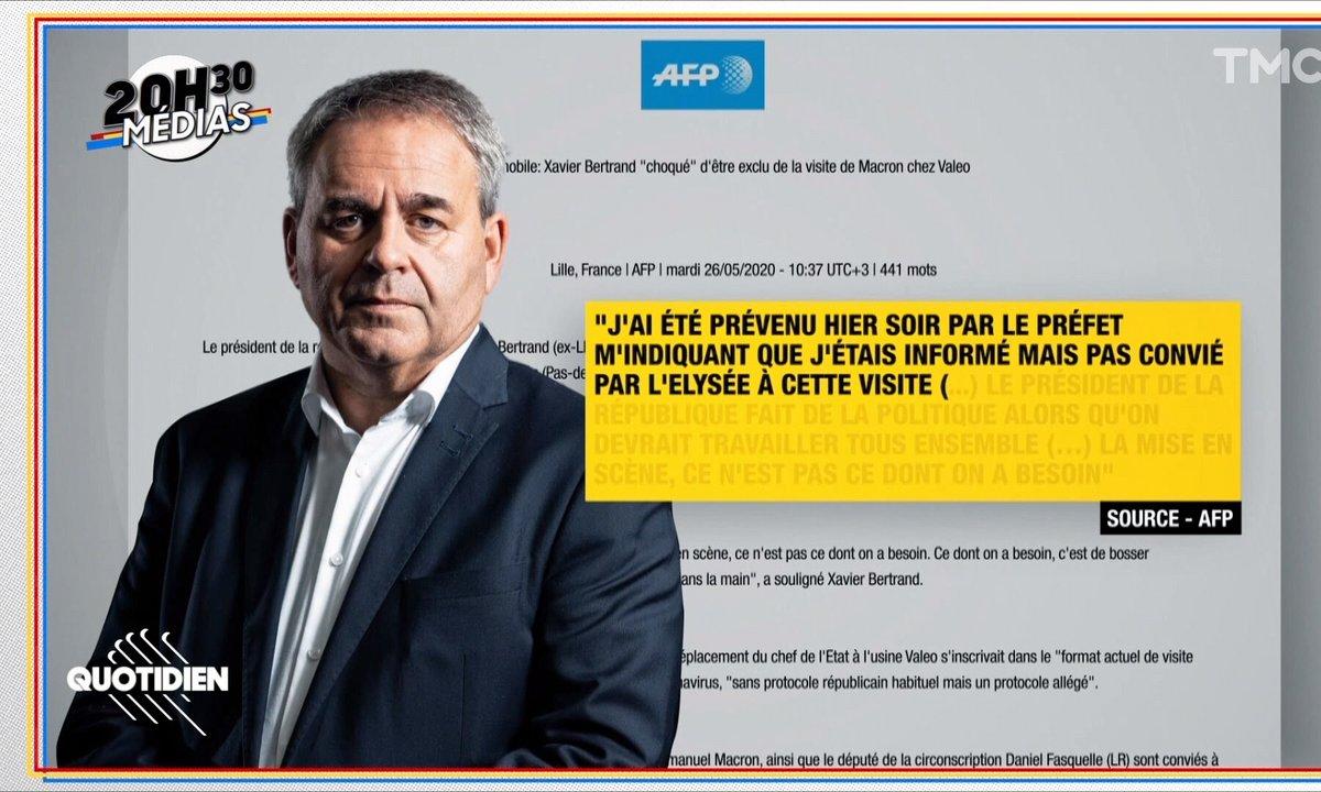 20h30 Médias : Emmanuel Macron a-t-il perdu le numéro de Xavier Bertrand ?