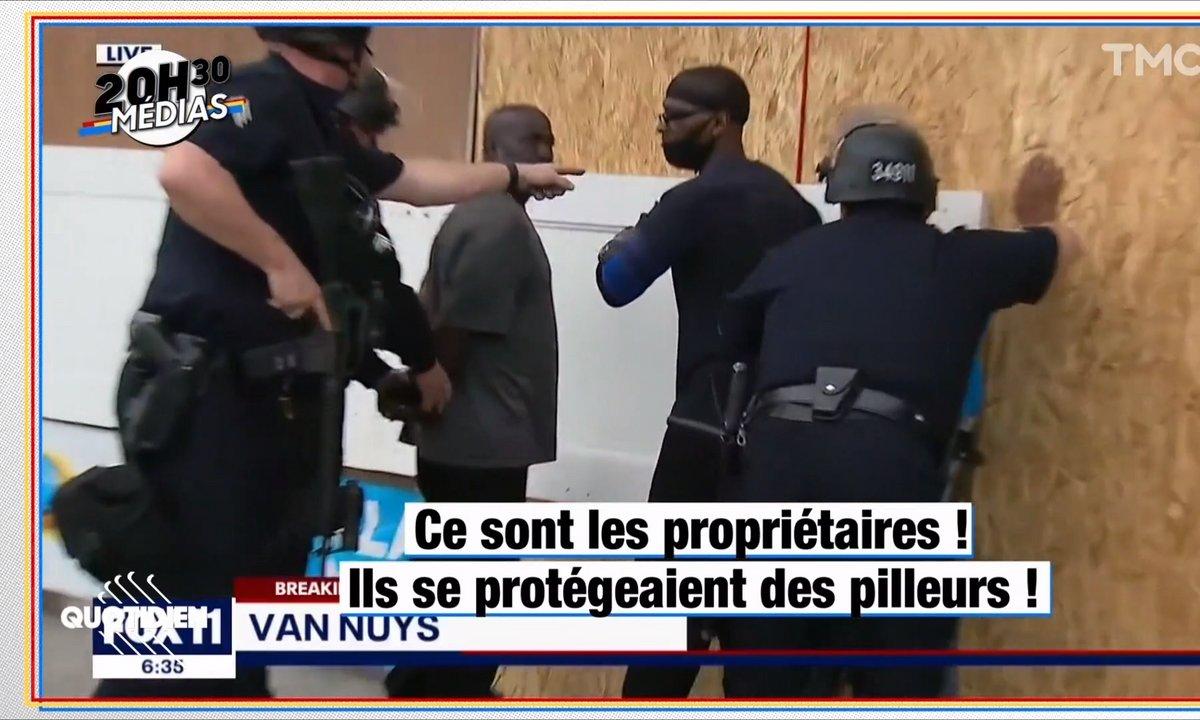 20h30 Médias : les images surréalistes de l'arrestation de propriétaires noirs sur le point de se faire braquer