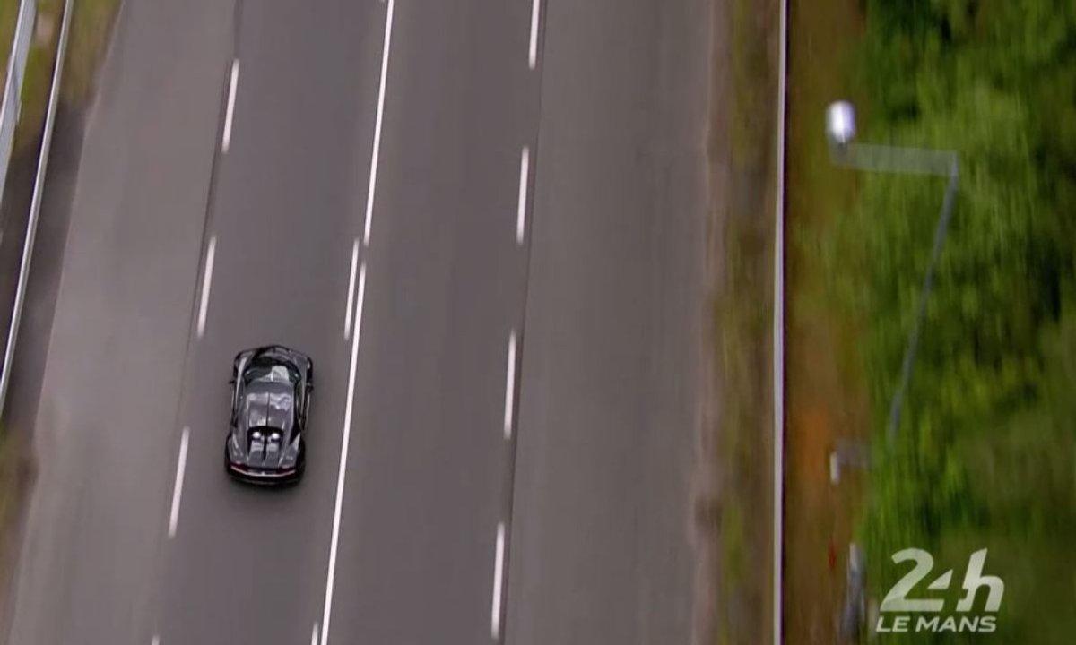 La Bugatti Chiron aux 24 Heures du Mans 2016 : vue aérienne