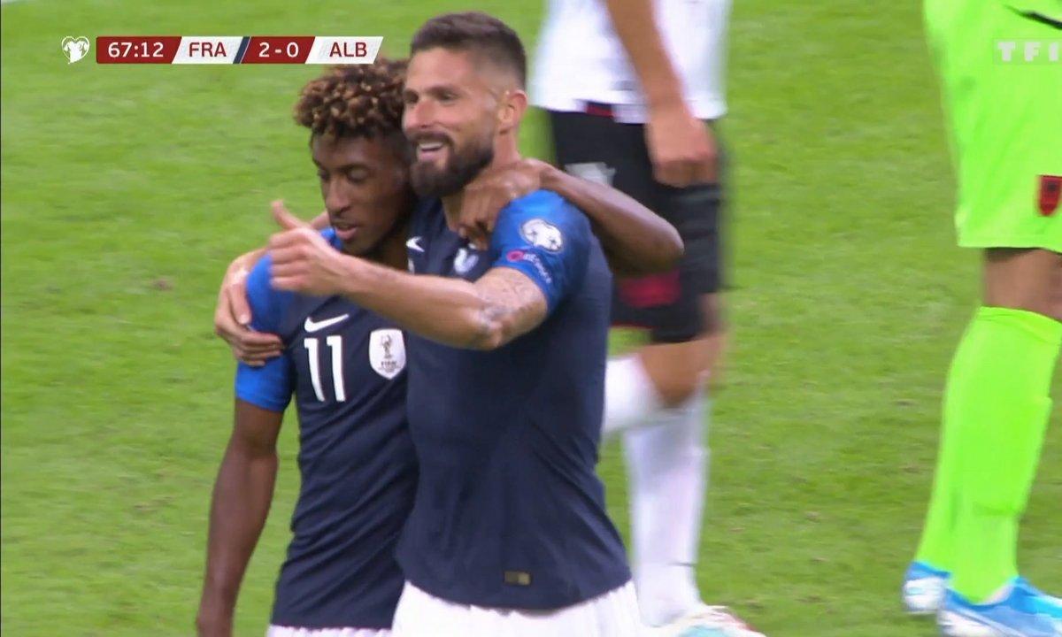 France - Albanie (3 - 0) : Voir le deuxième but de Coman en vidéo