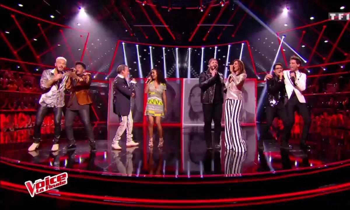 Les 4 finalistes, Mika, Zazie, Florent Pagny et M Pokora - « I Feel It Coming » (The WeekNd ft. Daft Punk) (La finale en direct – Saison 6)