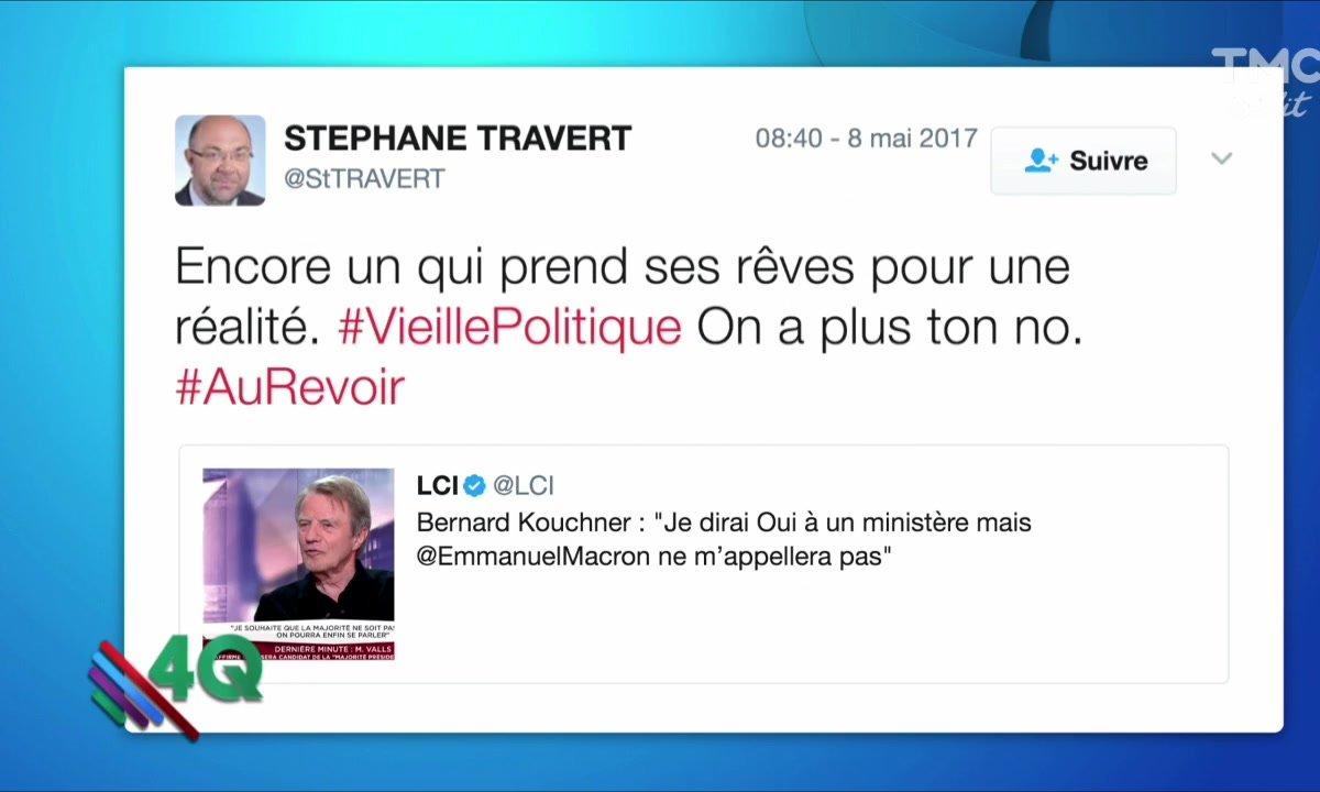 Les 4 Q : Quand Kouchner se fait fesser illico