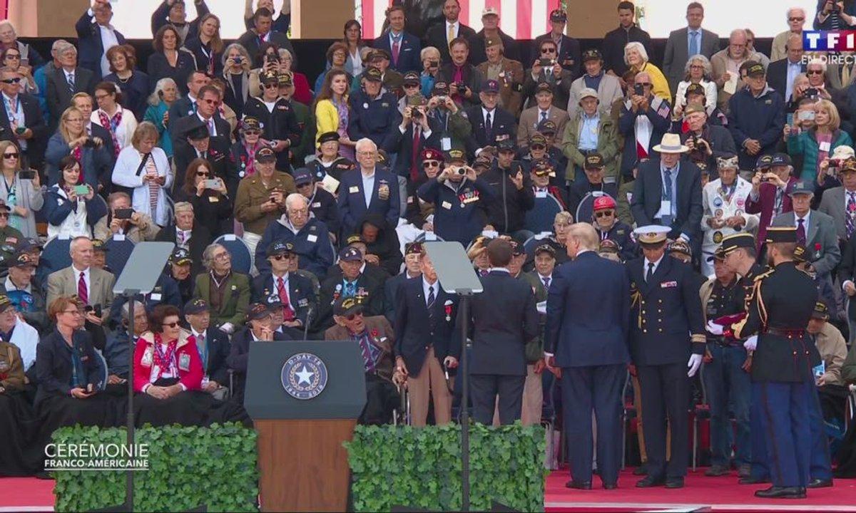 75 ans du Débarquement : Emmanuel Macron décore de la Légion d'honneur les anciens combattants
