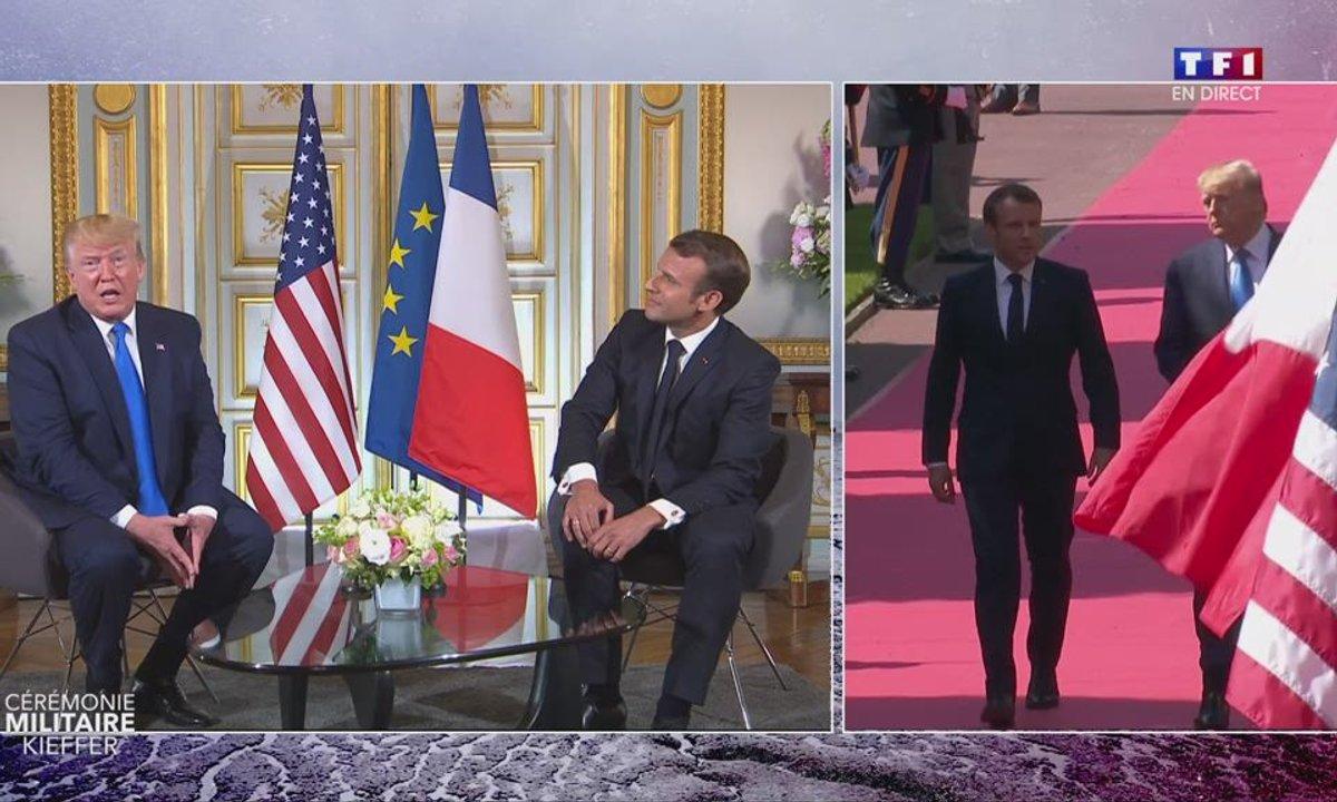 """75e anniversaire du débarquement : """"Nous avons une relation exceptionnelle"""", assure Donald Trump"""