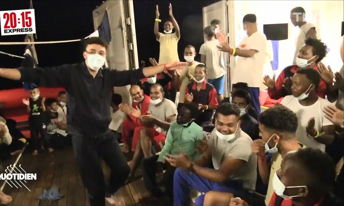 À bord de l'Ocean Viking : la joie des réfugiés débarqués en Sicile