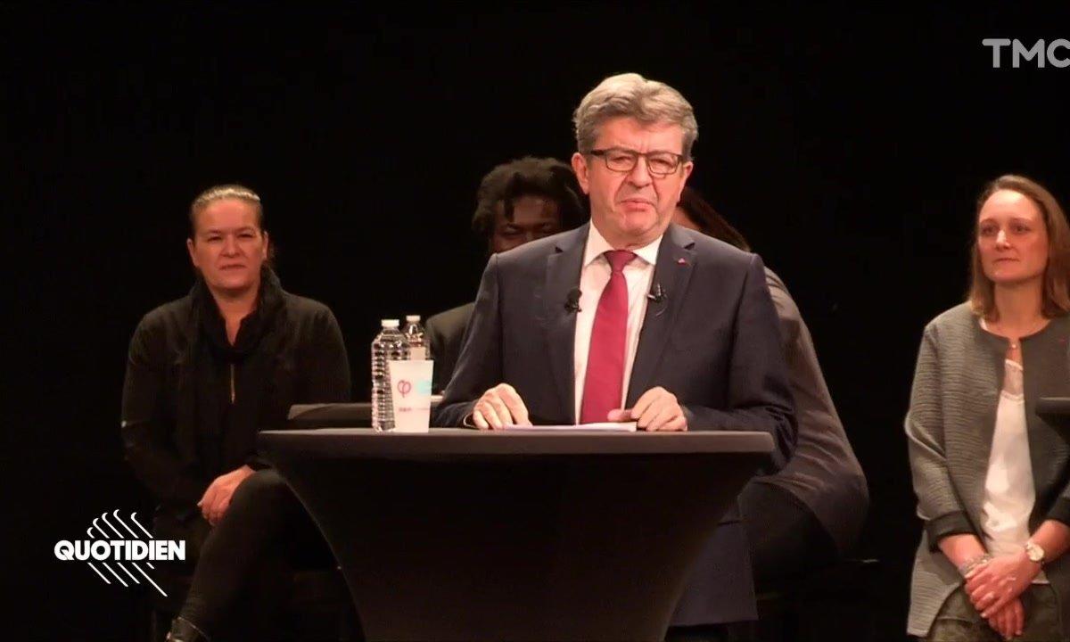 À Lille, Jean-Luc Mélenchon prend des airs de tragédien