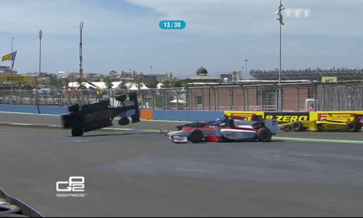 GP2 : l'accident de Fabrizio Crestani à Valence