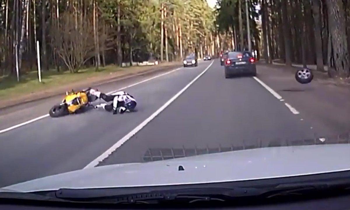Insolite : le plus malchanceux motard au monde ?