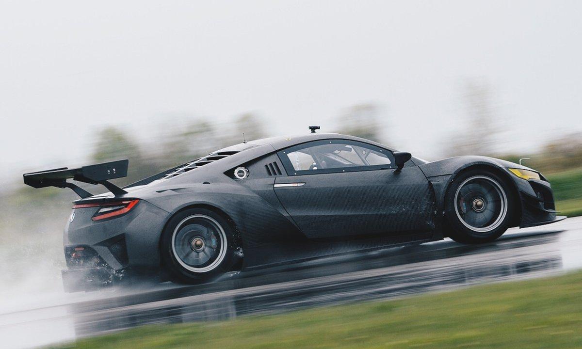 L'Acura NSX GT3 en test sur le circuit de Road America