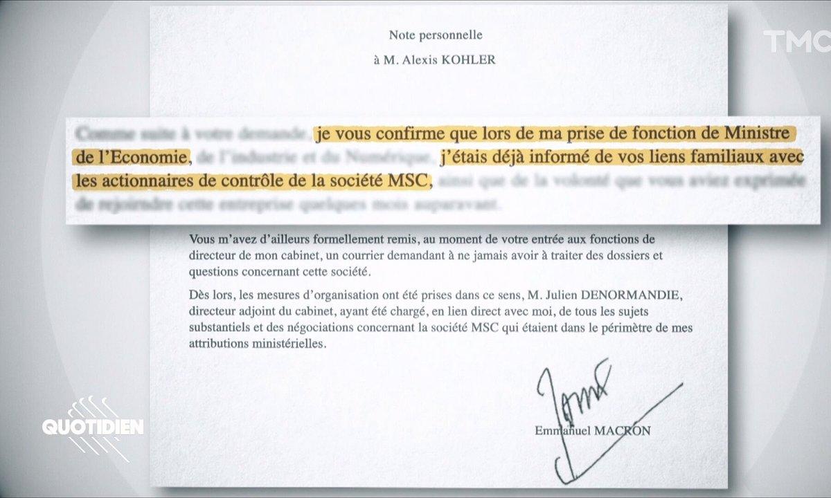 Affaire Alexis Kohler : Emmanuel Macron est-il intervenu pour faire cesser les poursuites ?
