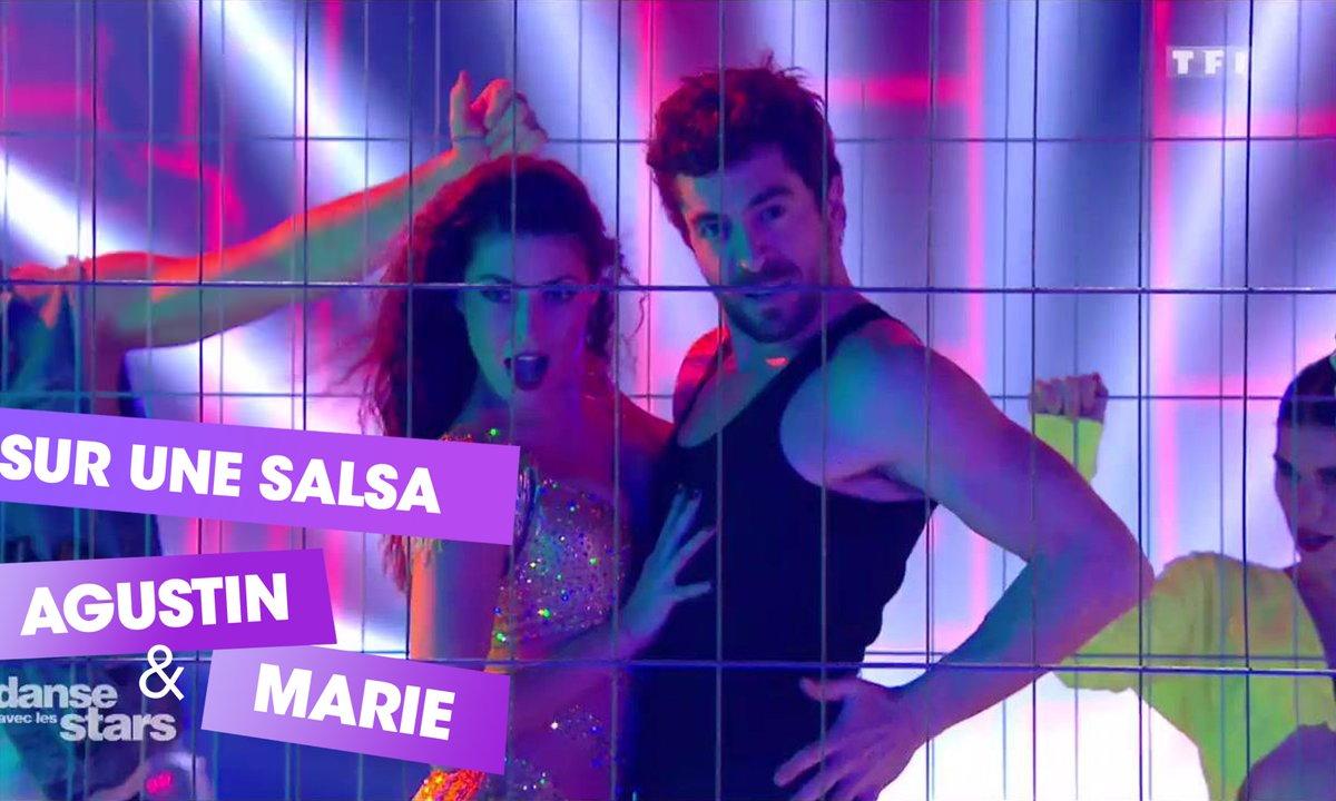 "Sur une Salsa,  Agustin Galiana et Candice Pascal (""En feu"" de Soprano)"