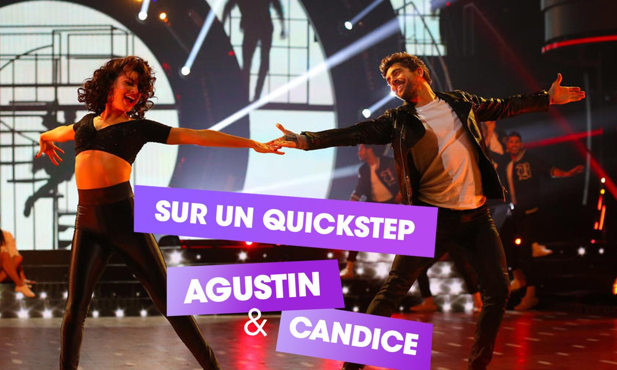 Sur un Quickstep,  Agustin Galiana et Candice Pascal (Grease)