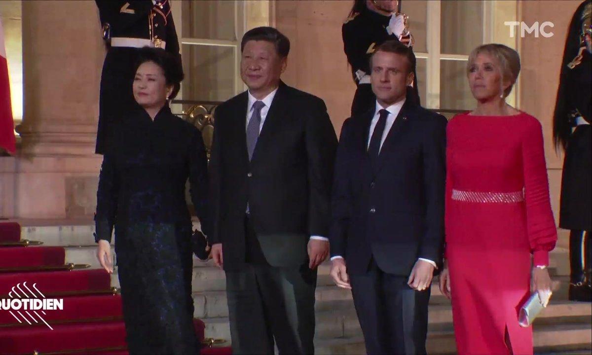 Alain Delon, Jean-Michel Jarre, Hélène Rolles : beau monde à l'Élysée pour le dîner franco-chinois