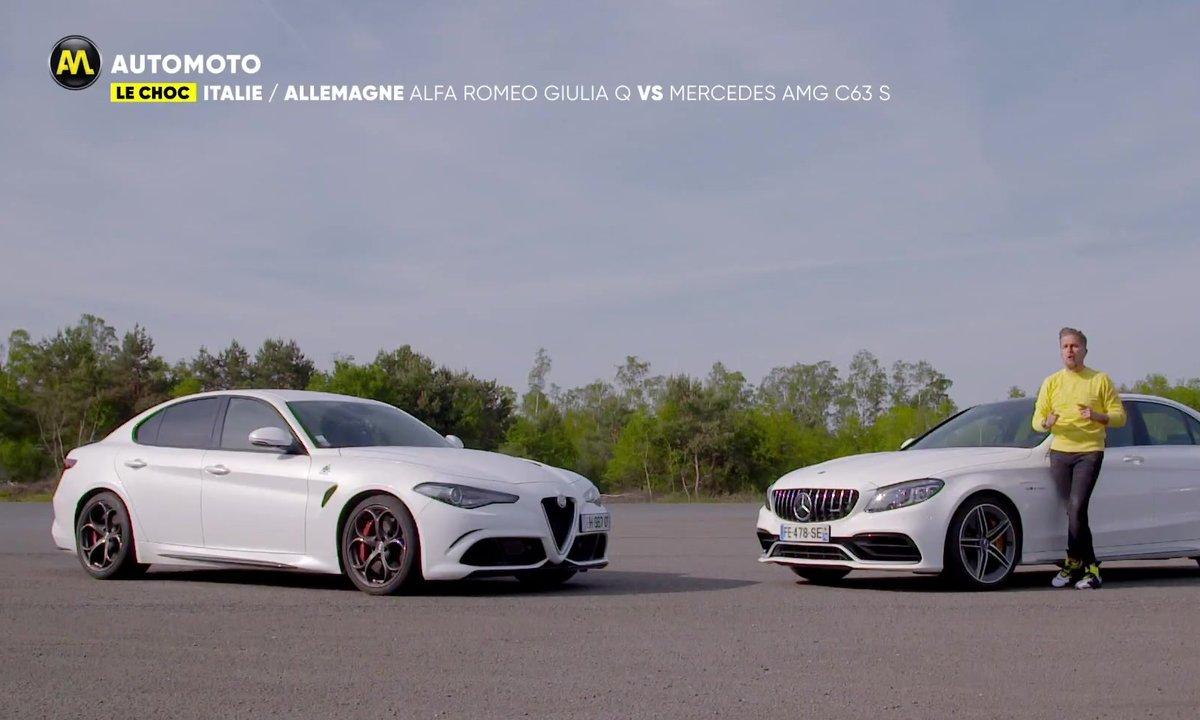 Italie/Allemagne : Alfa Romeo Giulia Q vs Mercedes AMG C63 S