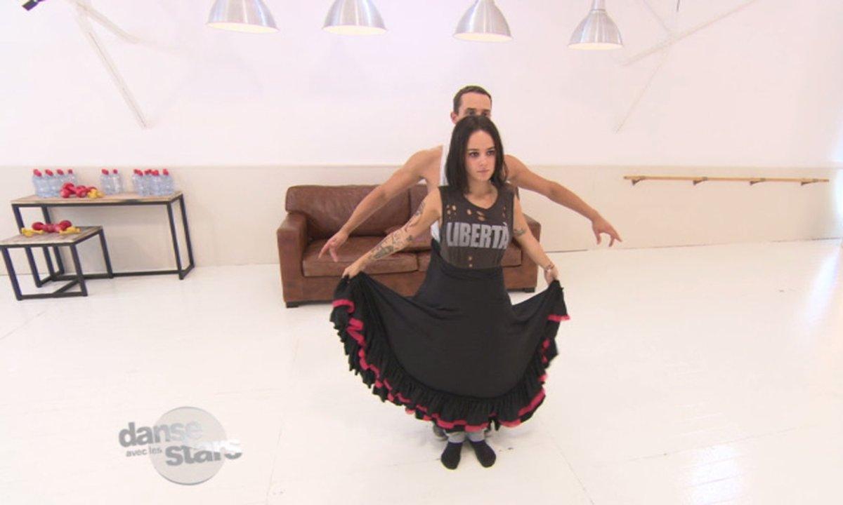 #DALS Répétitions : Alizée, la journée de la jupe