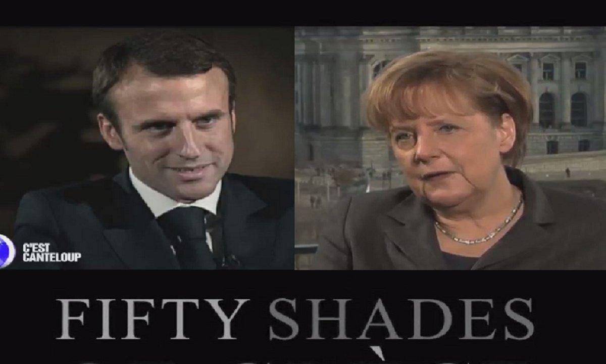 Angela Merkel et Emmanuel Macron sulfureux dans 50 nuances de Grèce