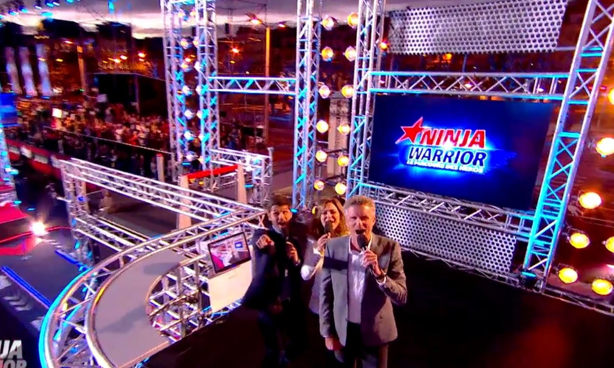 NINJA WARRIOR : Un trio d'animateurs au top