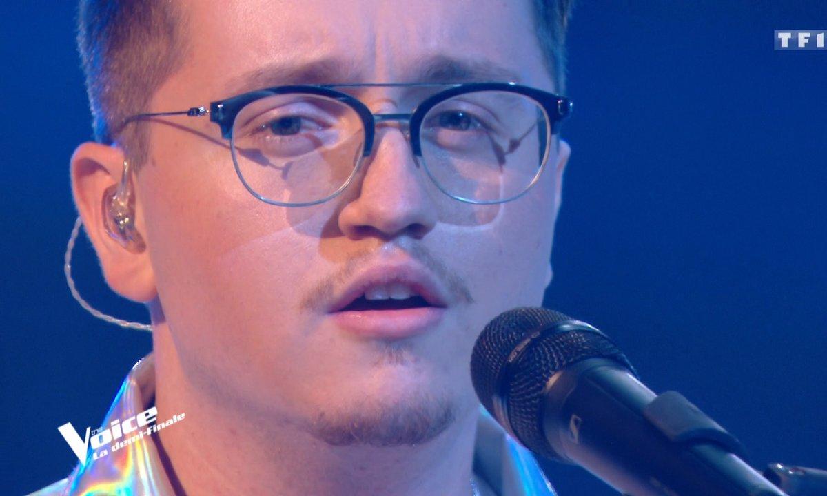 """THE VOICE 2020 – Antoine Delie chante """"SOS d'un terrien en détresse"""" de Daniel Balavoine (Demi-finale)"""