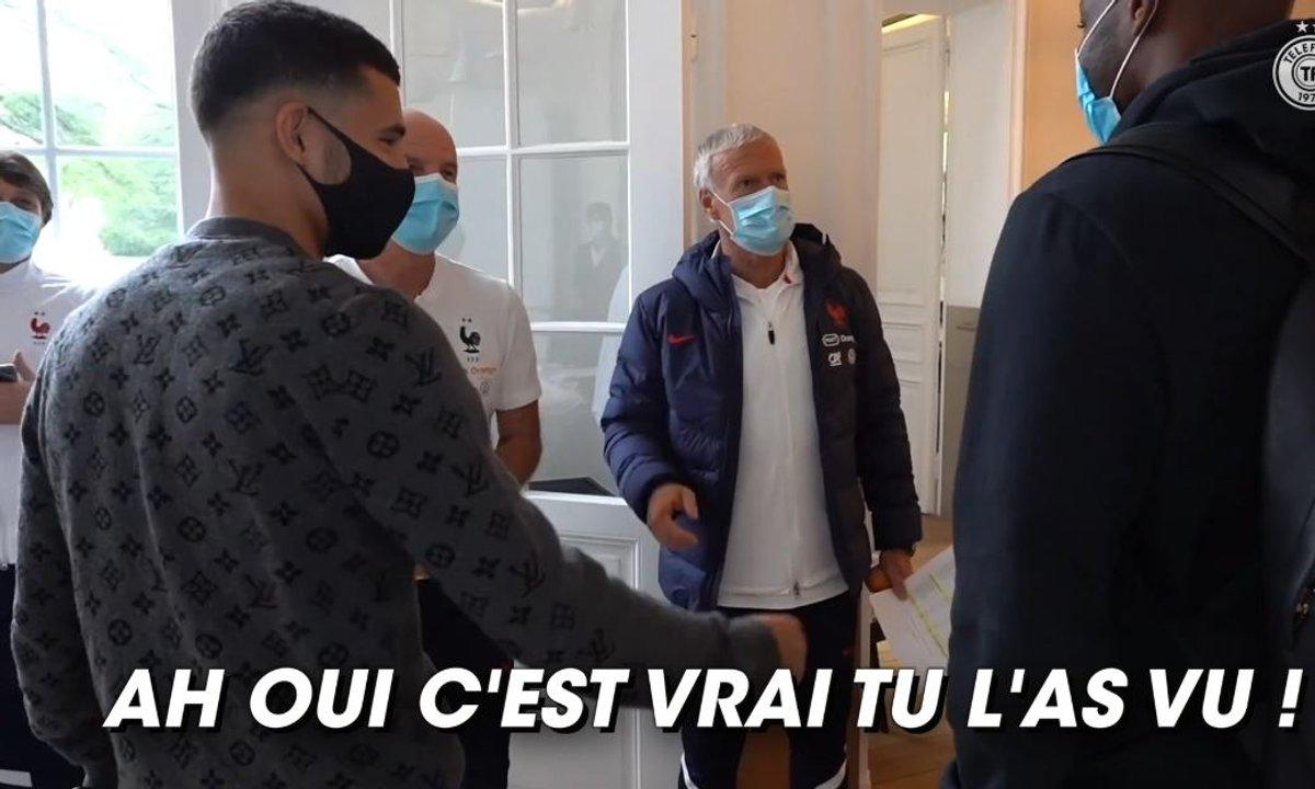 VIDEO - Quand Deschamps trolle Mandanda après le pénalty d'Aouar