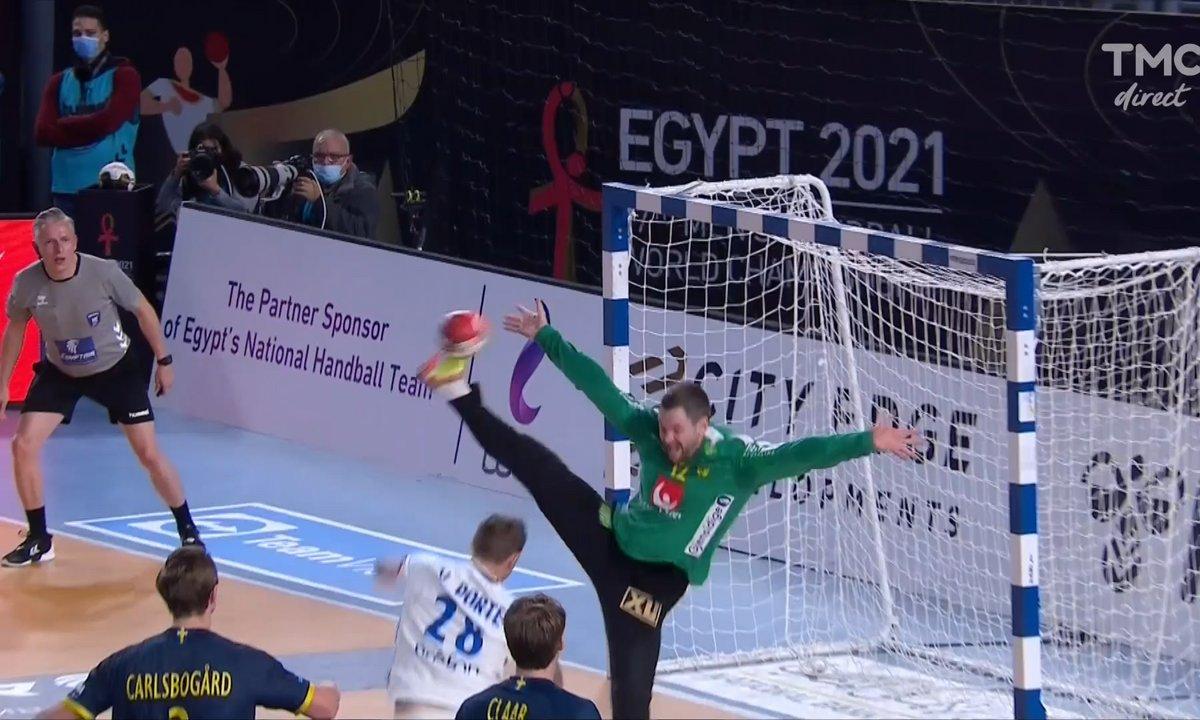 Mondial handball - France / Suède : Enorme parade du gardien suédois