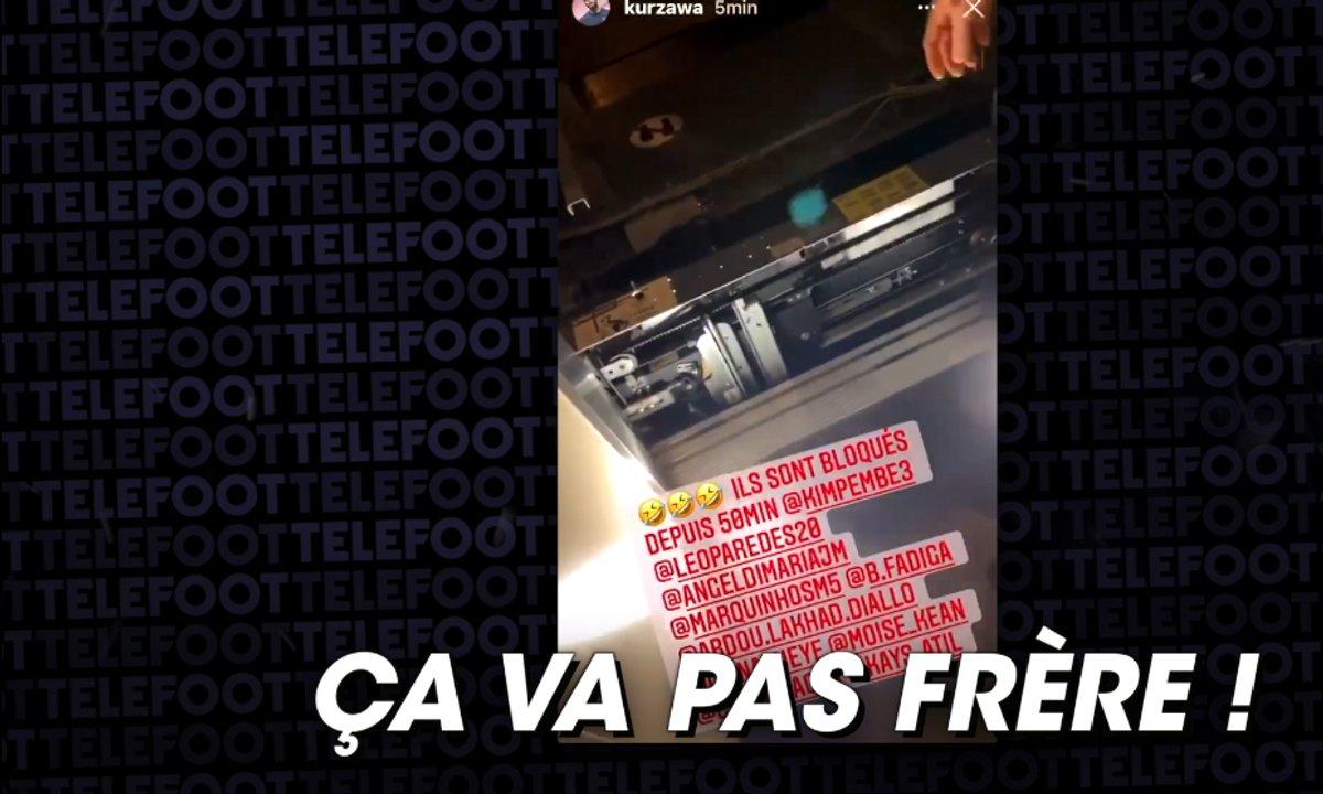 VIDEO - Neymar, Mbappé et leurs coéquipiers coincés... dans un ascenseur