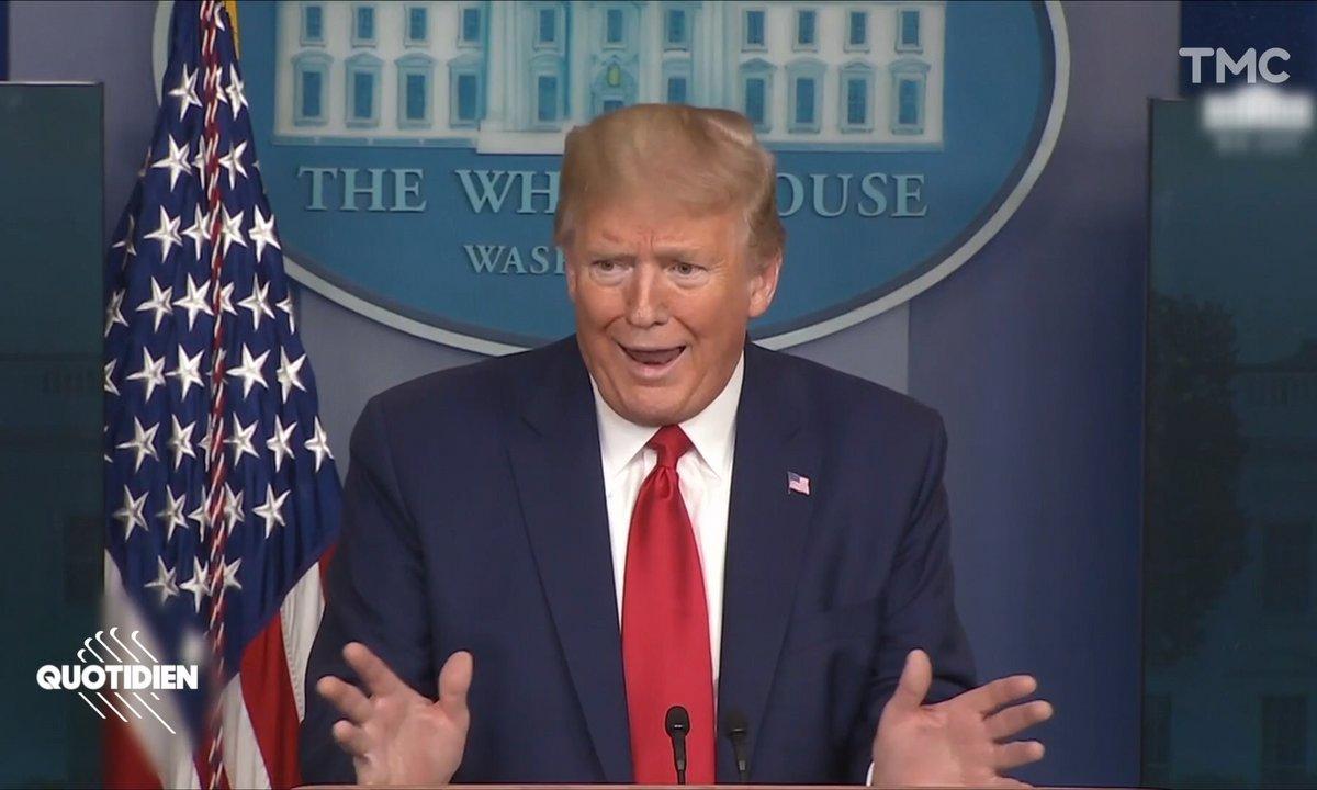 Auto-promo et gesticulation : la recette des points presse de Donald Trump