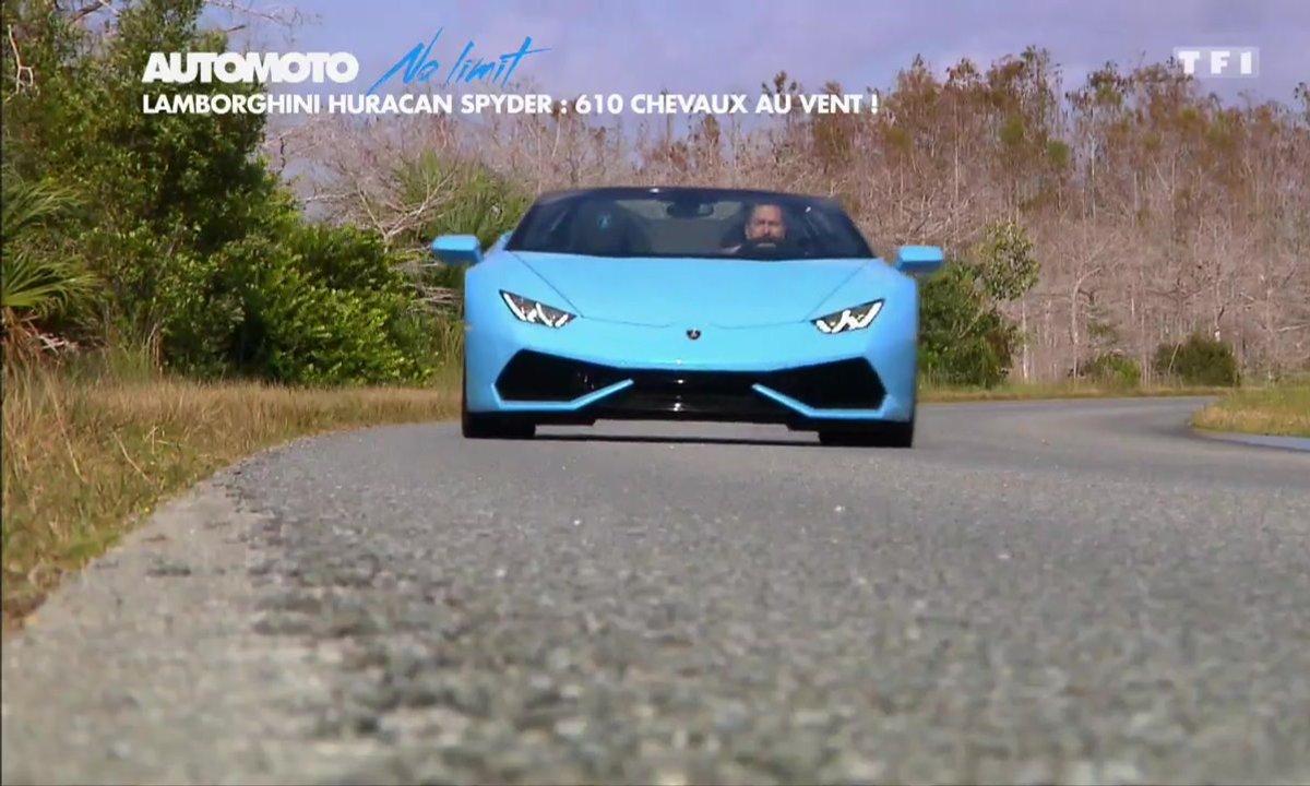 No limit : Lamborghini Huracan LP 610-4 Spyder, 610 ch au vent
