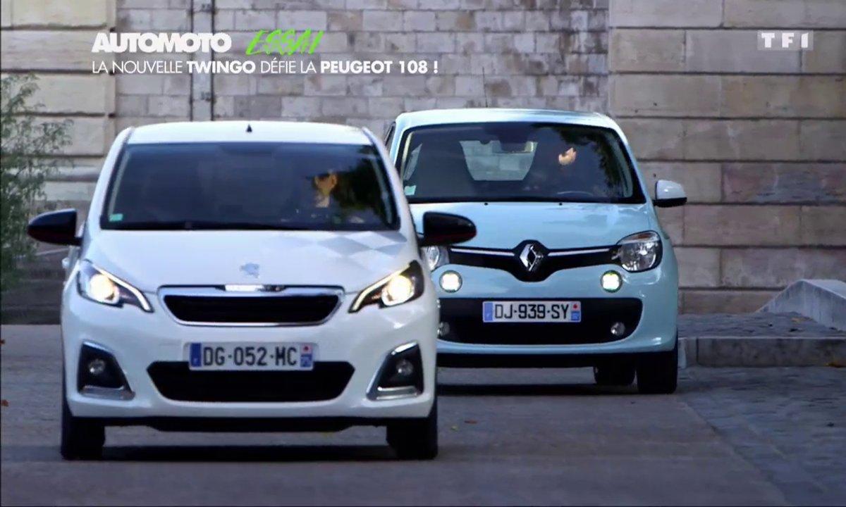 Essai Vidéo : la Renault Twingo défie la Peugeot 108