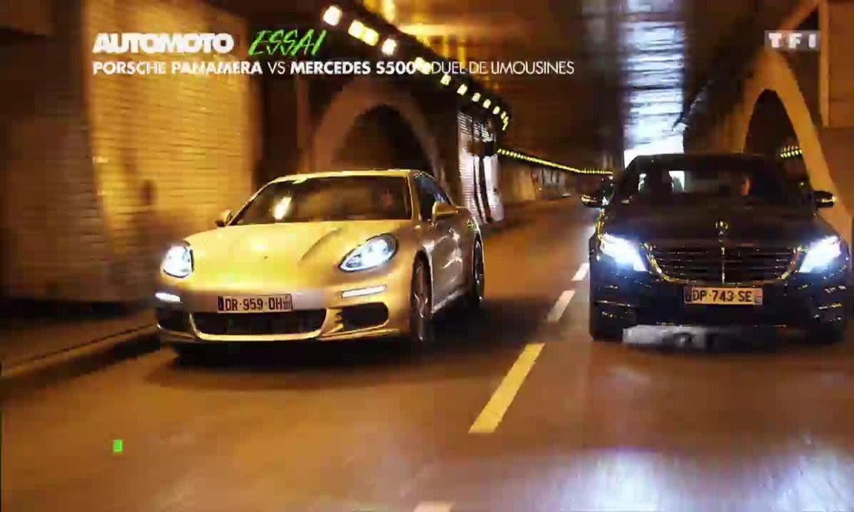 Essai Vidéo : Porsche Panamera S E-Hybrid vs Mercedes S500 Hybrid, le match