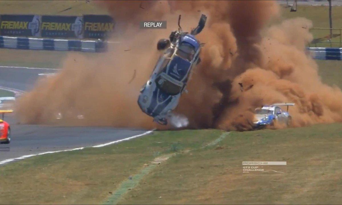 Insolite : l'accident terrifiant de Pedro Piquet en Porsche GT3 Cup