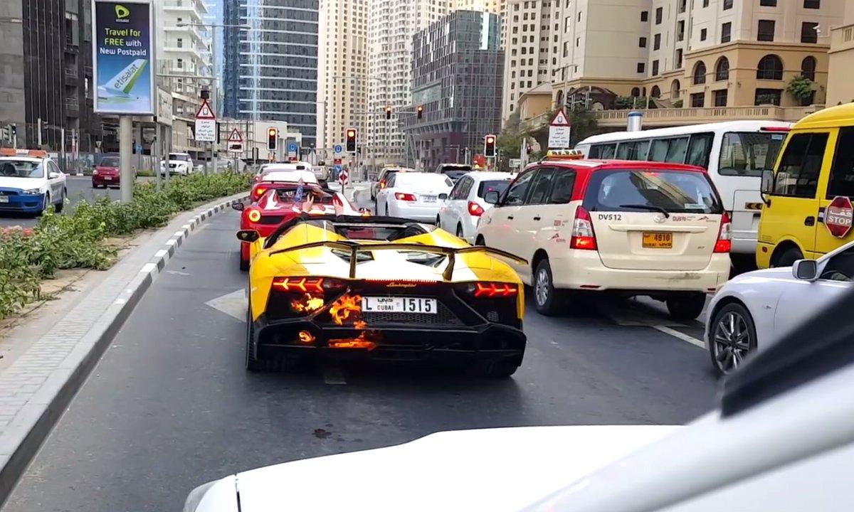 Insolite : Une vidéo explique pourquoi la Lanborghini Aventador a brulé à Dubaï