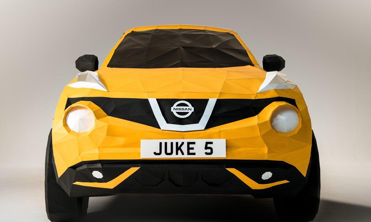Nissan dévoile un Juke en papier grandeur nature